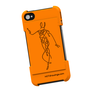 Poised - 05 Pixels Thicker - Invert OFF - Relief EMBOSSED - Orange